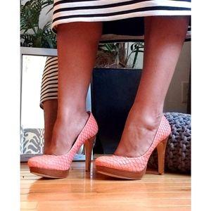 BCBGENERATION Peach with wooden heel